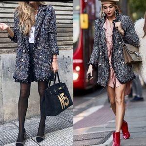 Zara Tweed Jacket w/ Pearl Buttons